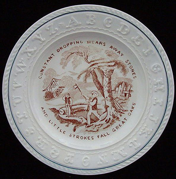 ABC Plate ~ Little Strokes & Great Oaks 1840
