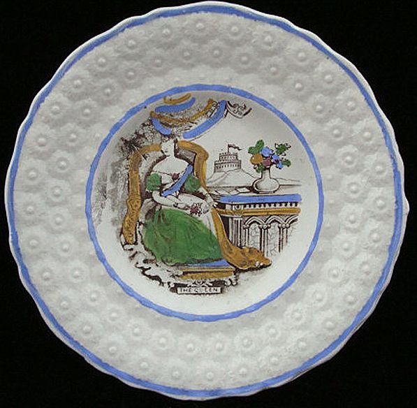 Antique Children's Plate ~ The QUEEN 1840