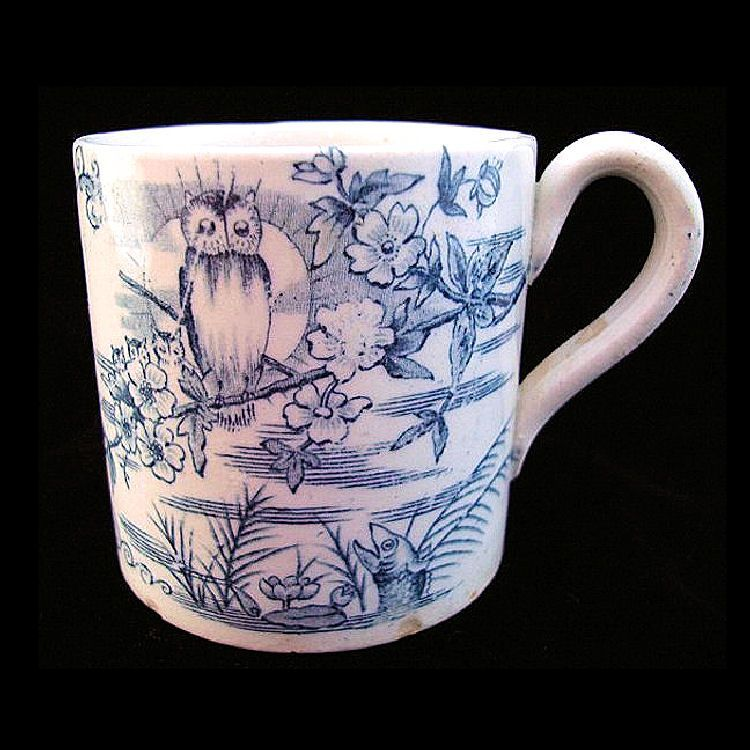 19th Century ABC Alphabet Mug ~ OWLS 1860