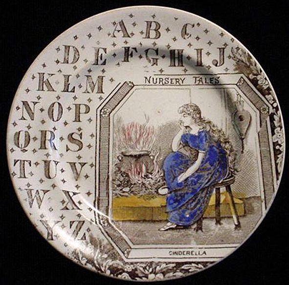 ABC Plate ~ Nursery Tales ~ Cinderella 1880