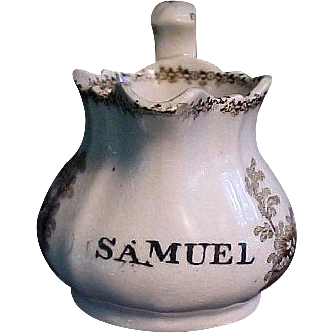 Staffordshire Christening Pitcher ~ SAMUEL 1840
