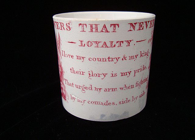 Flowers That Never Fade Historical Mug ~ LOYALTY 1840