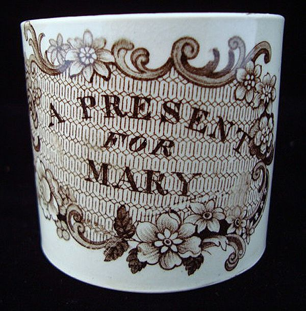 Staffordshire Child's Mug ~ PRESENT for MARY 1820