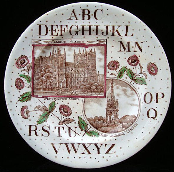ABC Plate ~ Westminster Abbey & Albert Memorial 1880