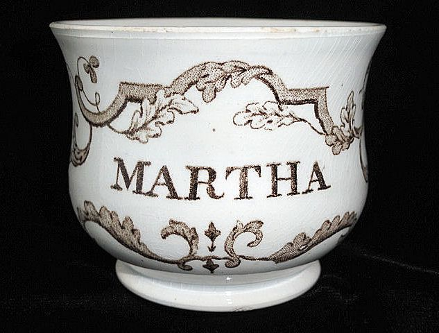 Pearlware Child's Christening Mug ~ MARTHA 1830
