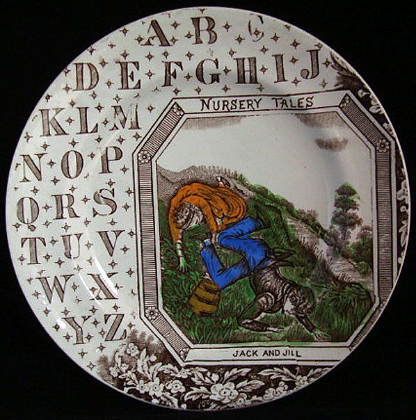 Antique ABC Plate ~ JACK and JILL 1880