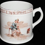1905 Royal Doulton Nursery Mug ~ Peter Piper Pickle Peppers