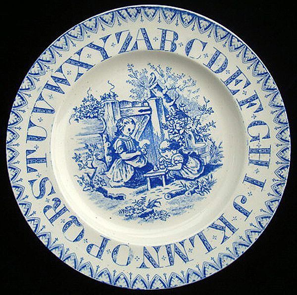 ABC Plate ~ Saturday Morning Pottery Girls 1890
