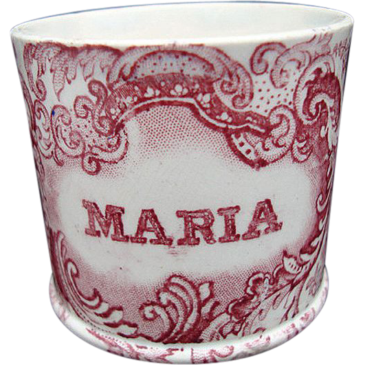 Early Pearlware Child's Mug ~ MARIA 1830