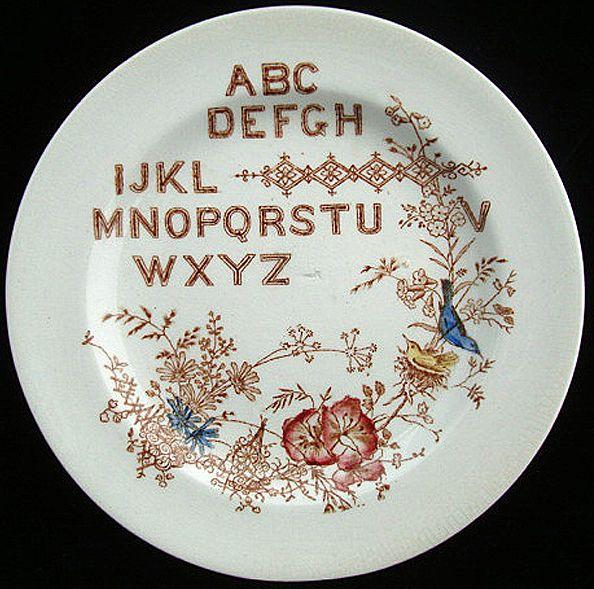 Polychrome ABC Alphabet Plate ~ SONGBIRDS 1890