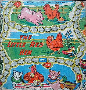 Framed Early Original Game Board ~ Little Red Hen