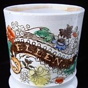Pearlware Child's  Mug ~ ELLEN 1840