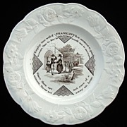 Early Franklins Maxims Plate ~ EMPLOY TIME WELL 1840