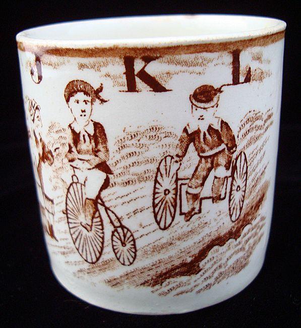 19th Century ABC Mug ~ J - K - L 1850