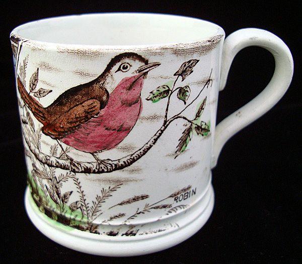 Staffordshire Mug ~ ABC ROBIN ~ 1880