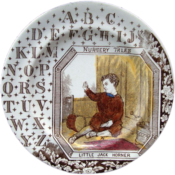 English ABC Plate ~ Little Jack Horner 1880