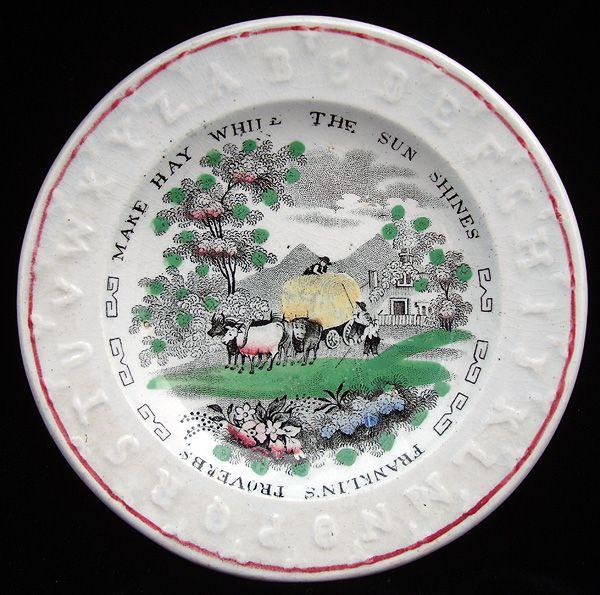 ABC Alphabet Plate ~ Make Hay 1840
