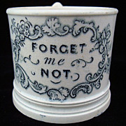 1830 Pearlware Child's Mug ~ Forget Me Not