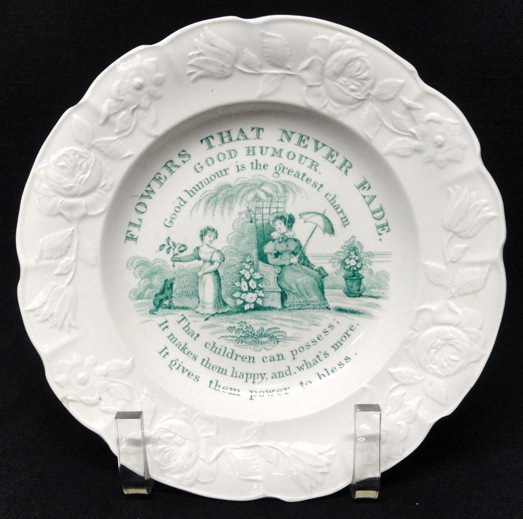 Flowers Never Fade Plate ~ Good Humor ~ 1830