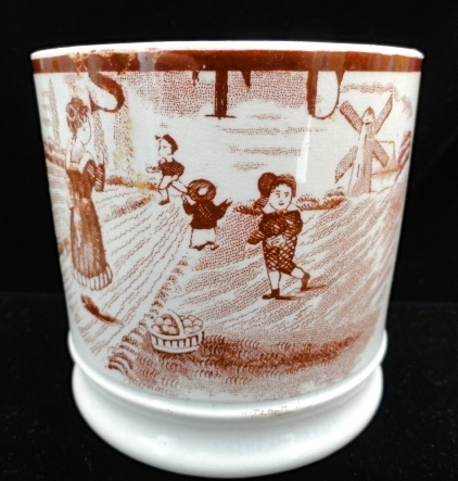 19th Century Childs ABC Mug ~ S - T - U ~ 1850