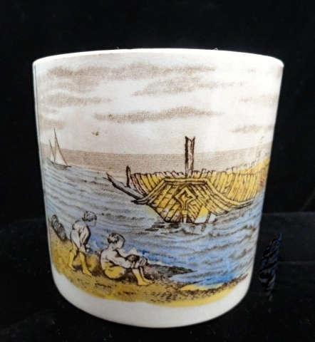 Antique Alphabet ABC Mug ~ Children Seashore ~ 1880