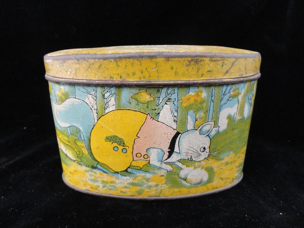 Early Tin Savings Bank ~ Squirrels & Chipmunks 1930