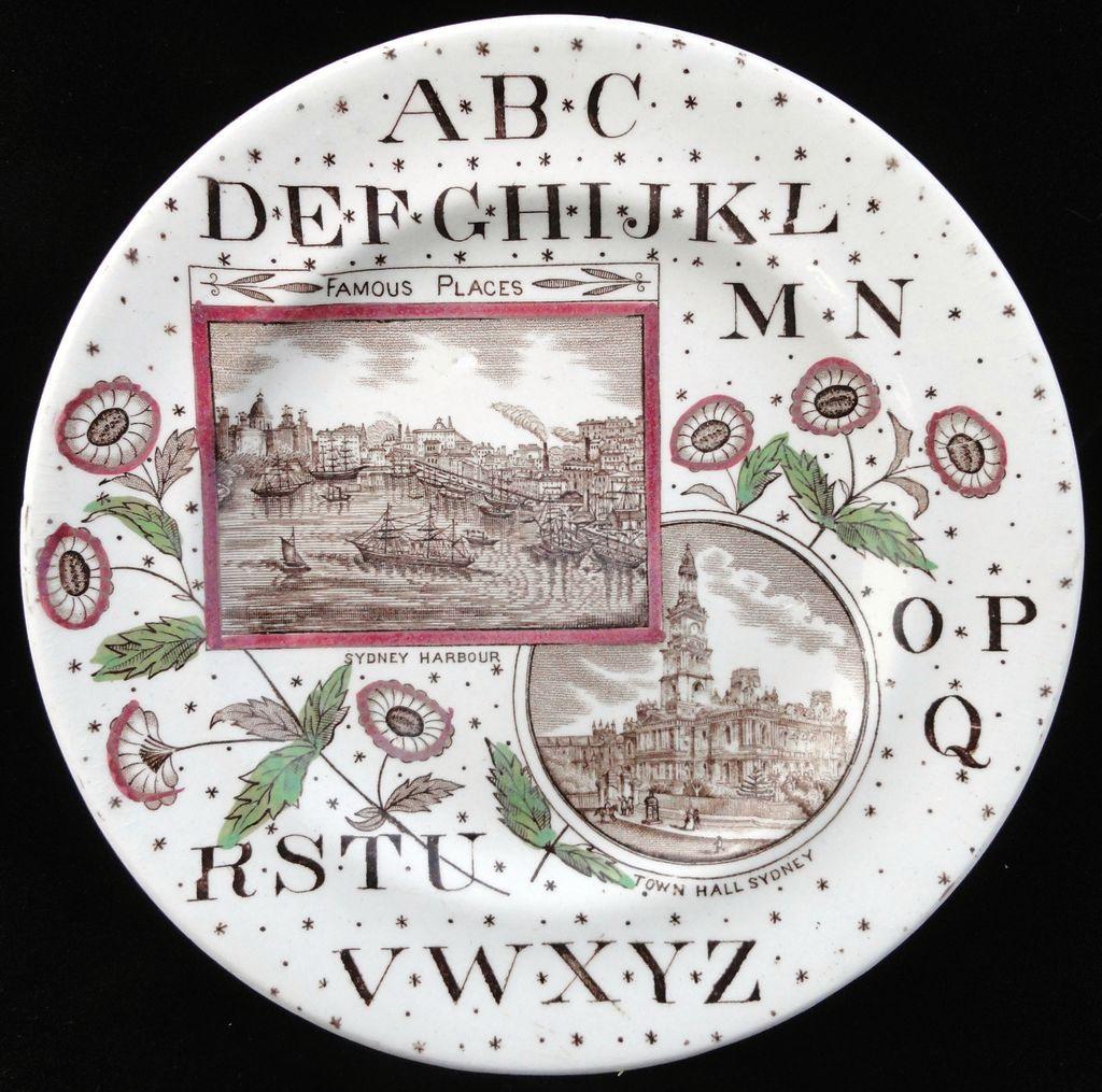 Staffordshire Famous Places ~ Australia ABC Plate ~ 1880