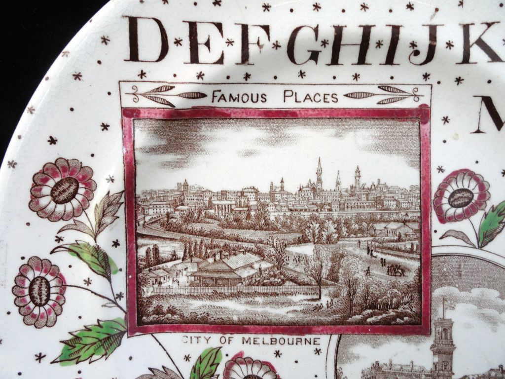 19th Century Famous Places Plate ~ Australia ABC Plate ~ 1880