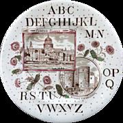 ABC Plate ~ Famous Places ~ London & Thames 1880