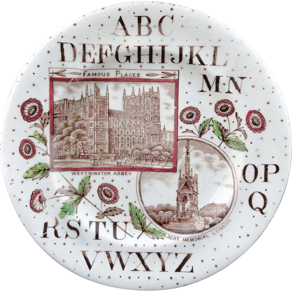 ABC Plate ~ London ~ Albert Memorial & Westminster Abbey 1880