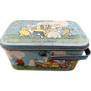 Peter Rabbit Tin Candy Lunch Box 1925
