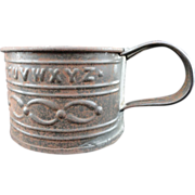 Civil War Tin Mug ~ Alphabet 1860