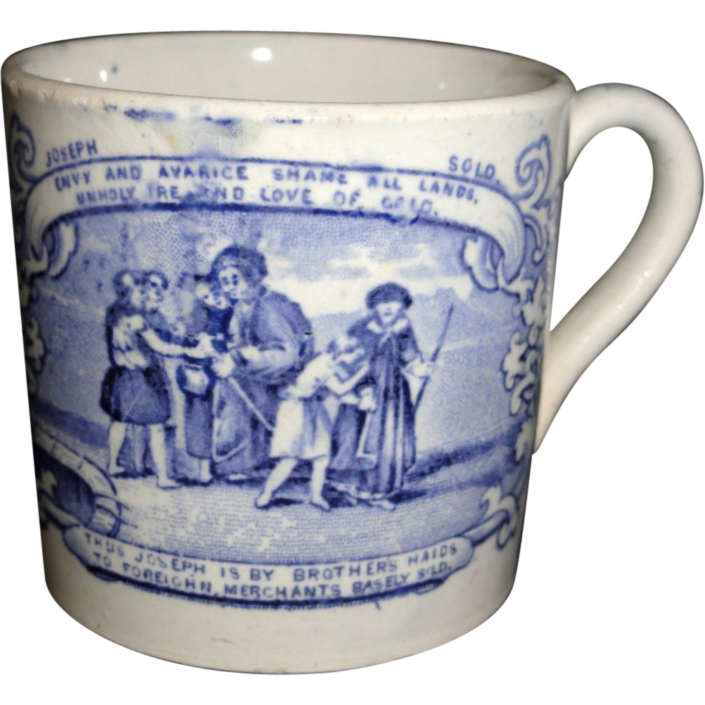 Staffordshire Childs Mug Biblical Scripture Gospel C1840