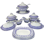 Childs Transferware Miniature Dinner Set ATHENS Davenport Staffordshire c1860