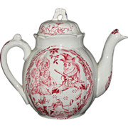 Punch & Judy Staffordshire Childs Red Teapot Ragbaby Wizard Allerton c1890