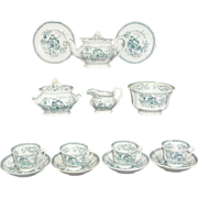 Rare Staffordshire Pearlware Childs Toy Tea Set CHINESE BELLS Charles Meigh Staffordshire England c.1835