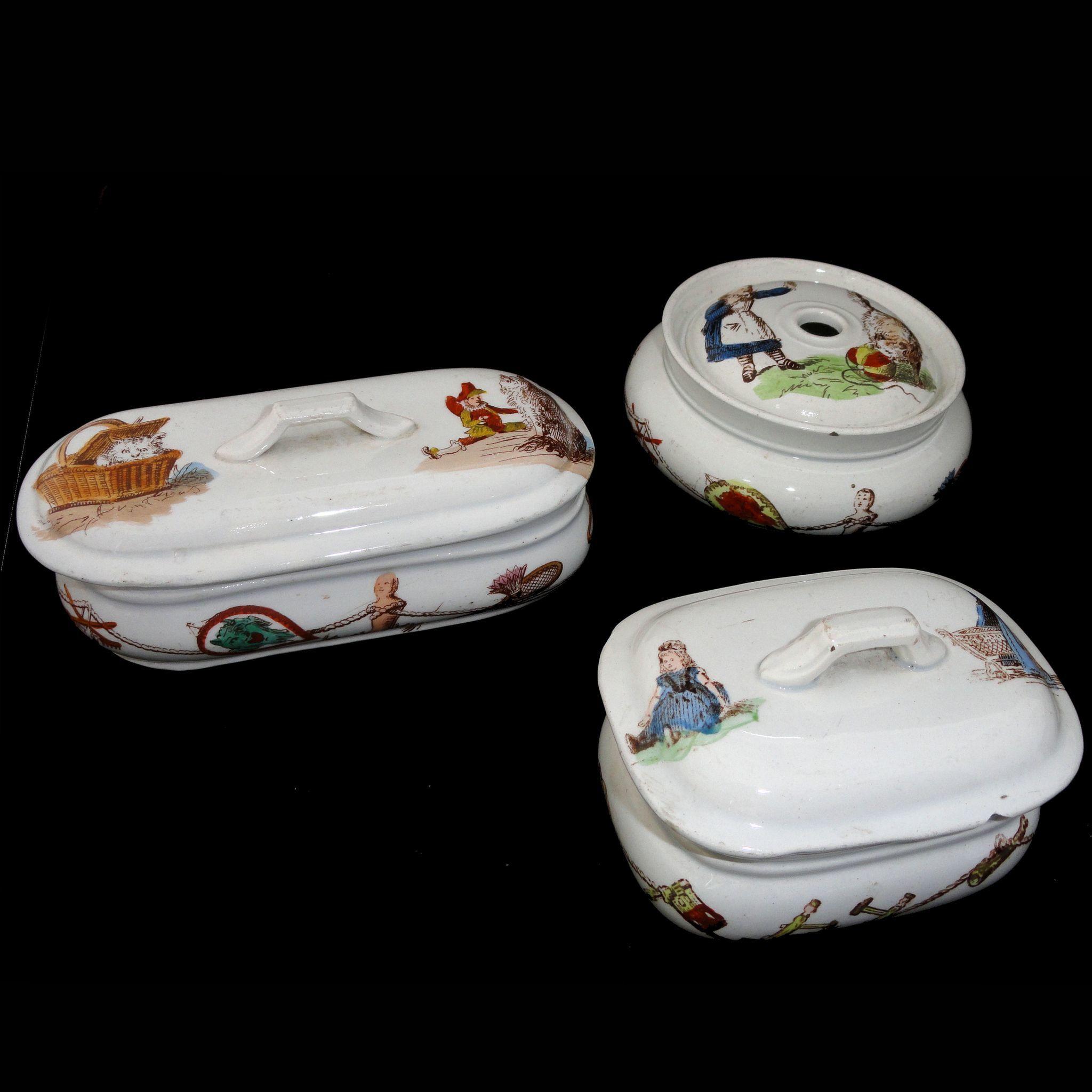 Creil Montereau Lavabo Bebe Childs Chamber Toilette Set