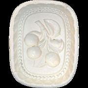 Rare Miniature Wedgwood Creamware Jelly Mold Cherries c1820