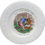 Staffordshire Childs ABC Plate THE POTTERS ART Packing Earthenware c1860