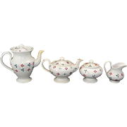 Childs Hand Decorated Pearlware Coffee & Tea Service Scott Pottery Sunderland 1850