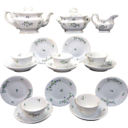 Staffordshire Childs Pearlware Tea Set  FLORAL SPRIG Staffordshire England c1830