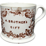 Staffordshire Pearlware Child's  Mug  ~  ANN ~ A Brother's Gift ~ 1830