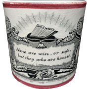 Early Pearlware Religious Child's Mug ~ 1830
