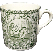 19th Century ABC Alphabet Mug ~ MONKEYS 1860