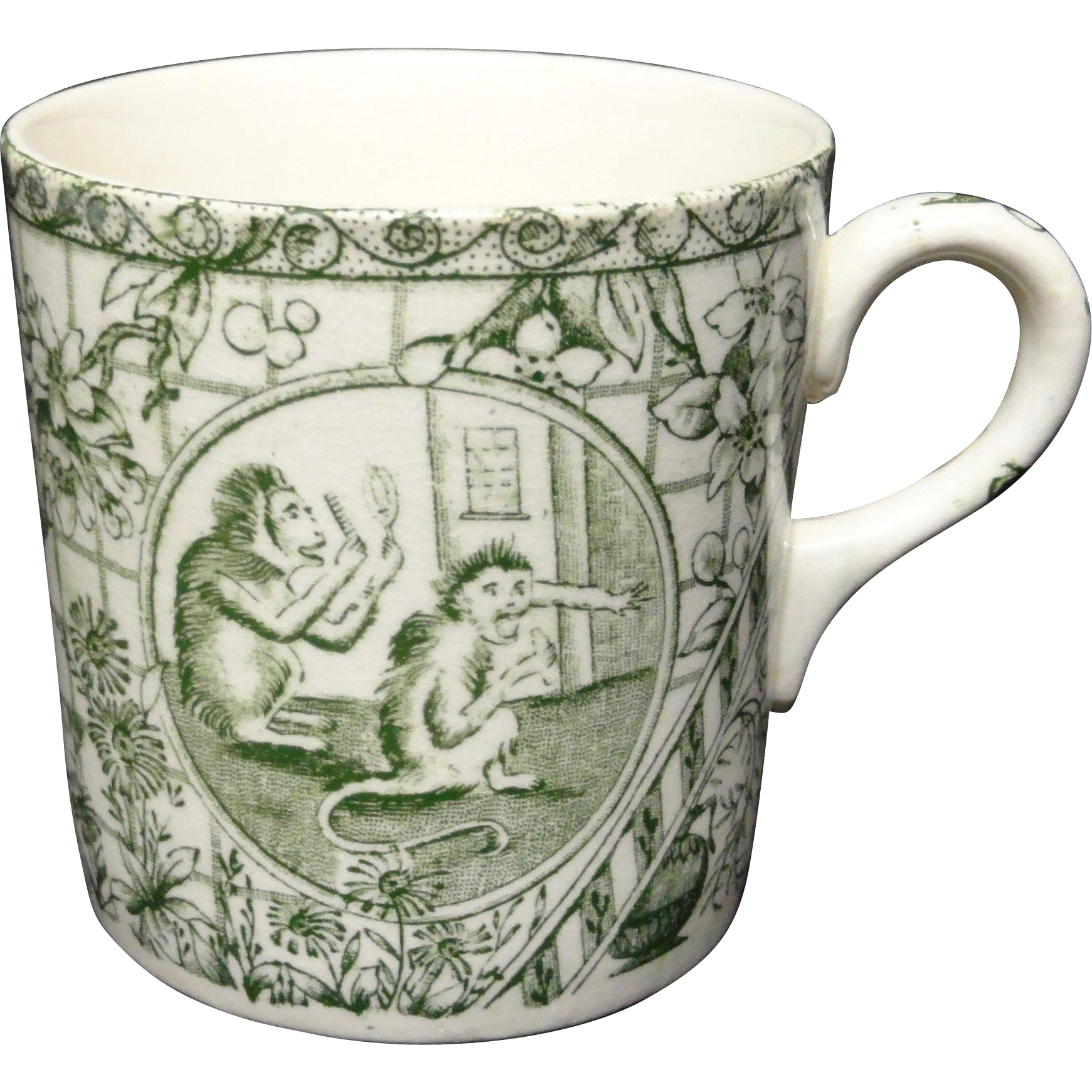 19th Century ABC Alphabet Mug ~ MONKEYS 1860