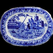 Staffordshire Historical Child Miniature Meat Platter KITE FLIER 1820 Franklin