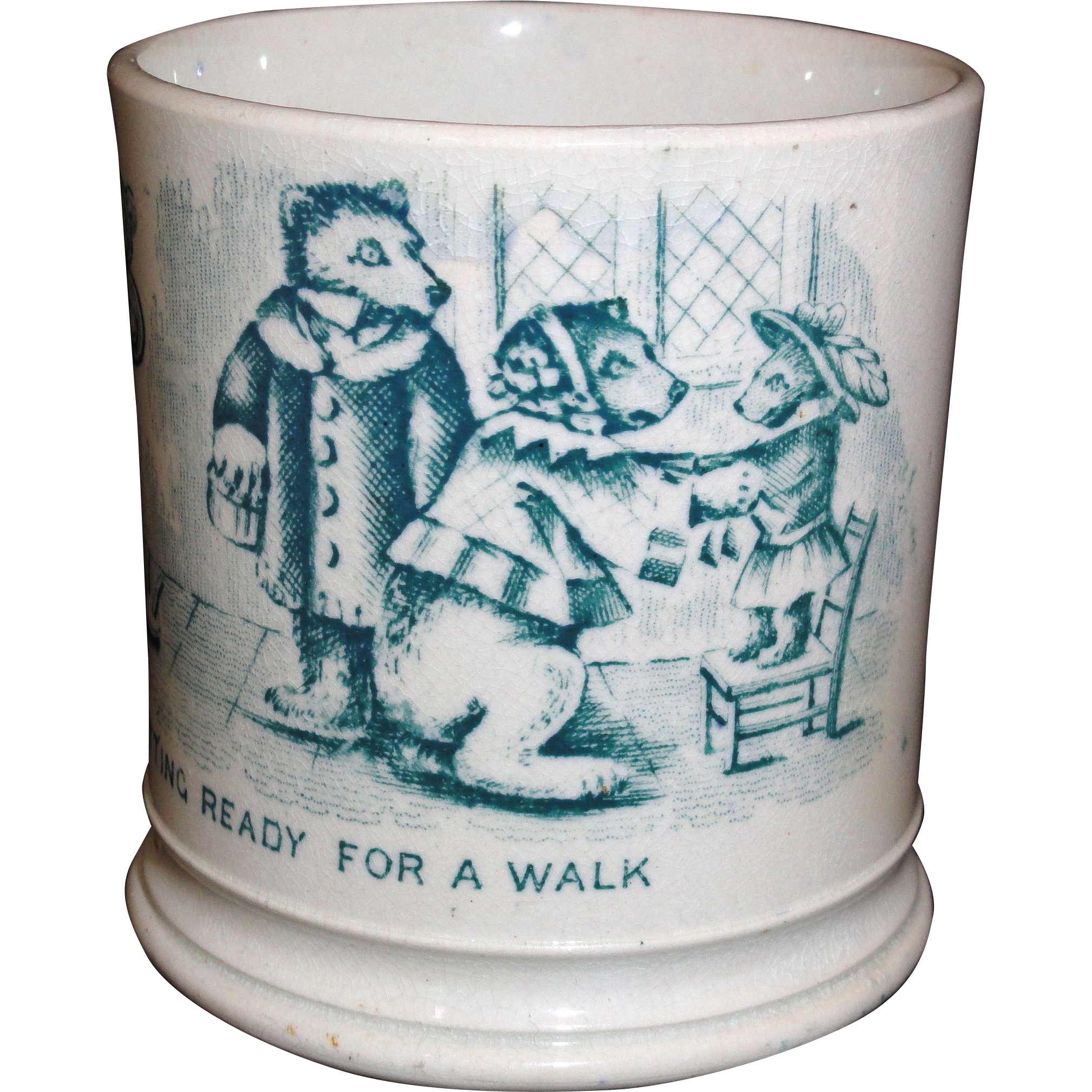 Childs Pearlware ABC Mug The Three Bears 1845 Staffordshire