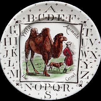 Antique ABC Plate ~ The CAMEL 1880