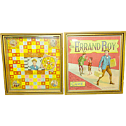 Framed Antique McLoughlin Brothers Game Boards ~  BANKING INDUSTRY 1891