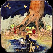 Royal Doulton Gnomes Plate Charles Noke D4697 Staffordshire England 1930
